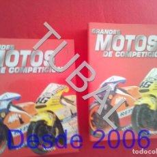Coches y Motocicletas: TUBAL GRANDES MOTOS DE COMPETICION 2 TOMOS ARCHIVADORES FASCICULOS 1 AL 40 ENVIO 4,5 KILOS U15. Lote 189577232
