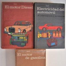Coches y Motocicletas: LOTE 3 TOMOS ENCICLOPEDIA CEAC DEL MOTOR Y ATOMOVIL - GASOLINA, DIESEL Y ELECTRICIDAD - AÑO 1969. Lote 189882622