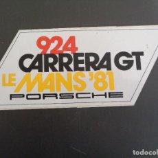 Carros e motociclos: ANTIGUA PEGATINA / ADHESIVO PORSCHE 924 CARRERA GT LE MANS 1981. Lote 189962910