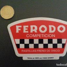Coches y Motocicletas: ANTIGUA PEGATINA / ADHESIVO FERODO COMPETICIÓN. Lote 190001851