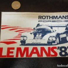 Carros e motociclos: ANTIGUA PEGATINA / ADHESIVO ROTHMANS PORSCHE LE MANS 1982. Lote 190034245