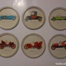 Coches y Motocicletas: LOTE 6 PLATITOS METÁLICOS FORD MERCEDES CADILLAC ROLLS ROYCE OPEL HISPANO SUIZA. AUTOMOVILISMO. Lote 190036311