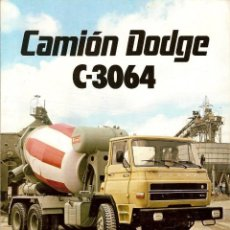 Coches y Motocicletas: CATALOGO CAMION DODGE C-3064 BARREIROS. Lote 190138230