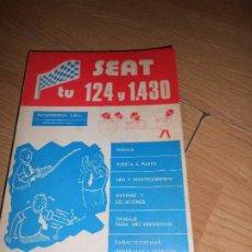 Carros e motociclos: TU SEAT 124 Y 1430 - ANTONIO Y JOSE MADUEÑO LEAL - AUTECNICA A.M.L.. Lote 190277760