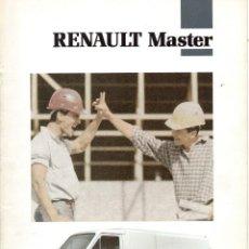 Coches y Motocicletas: CATALOGO RENAULT MASTER AGOSTO 1991. Lote 190390351