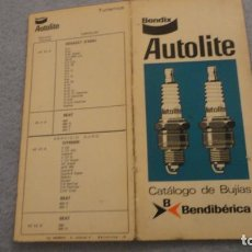 Coches y Motocicletas: ANTIGUO CATALOGO TRIPTICO BUJIAS AUTOLITE TURISMOS.BENDIX BENDIBERICA 1976. Lote 190437526