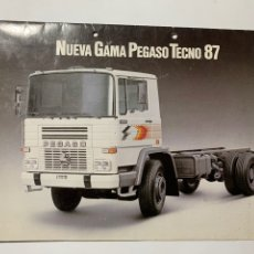 Coches y Motocicletas: CATÁLOGO FOLLETO PUBLICIDAD ORIGINAL NUEVA GAMA CAMION PEGASO TECNO 87 DE 1987. Lote 190728368