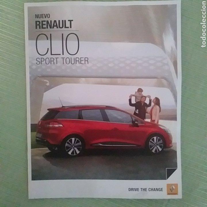 CATÁLOGO NUEVO RENAULT CLIO SPORT TOURER (Coches y Motocicletas Antiguas y Clásicas - Catálogos, Publicidad y Libros de mecánica)