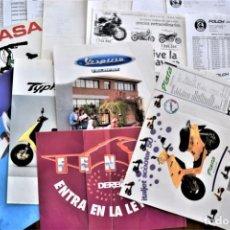 Coches y Motocicletas: LOTE CATÁLOGOS Y LISTAS DE PRECIOS CONCESIONARIO MOTOS AÑOS 90, DERBI RABASA, VESPA, ITALJET, YAMAHA. Lote 191350766