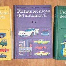 Coches y Motocicletas: LOS TRES TOMOS FICHAS TÉCNICAS DEL AUTOMÓVIL, ENCICLOPEDIA CEAC AÑO 1973. Lote 191483771