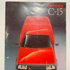 Coches y Motocicletas: CATALOGO FOLLETO PUBLICIDAD CITROEN C-15 DE 1989. Lote 191492683