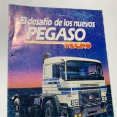 Coches y Motocicletas: CATÁLOGO FOLLETO PUBLICIDAD EL DESAFÍO DE LOS NUEVOS PEGASO TECNO CAMIÓN AÑOS 80. Lote 191610435
