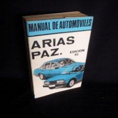 Coches y Motocicletas: MANUAL DE AUTOMOVILES, ARIAS-PAZ - 45º EDICION 1982. Lote 191727066