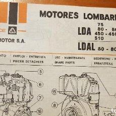 Coches y Motocicletas: MOTORES LOMBARDINI LDA-DLAL. Lote 191828102