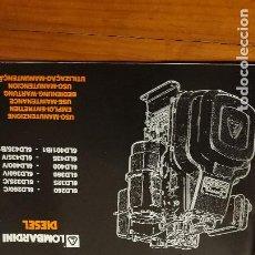 Coches y Motocicletas: MOTORES DIESEL LOMBARDINI 6LD 260-325-360-400-435-401 B-. Lote 191829178