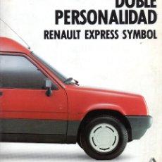 Coches y Motocicletas: CATALOGO RENAULT EXPRESS SYMBOL. Lote 191846151