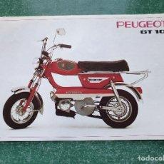 Coches y Motocicletas: ANTIGUO CATÁLOGO MOTO ' PEUGEOT GT 10 ' - CATÁLOGO FRANCÉS.. Lote 192037745