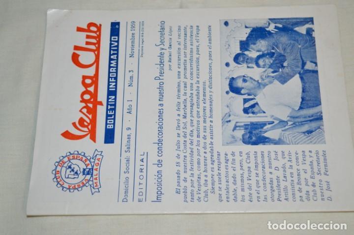 Coches y Motocicletas: VESPA Noviembre 1.959 - Vespa Club de España /MÁLAGA/ - Boletín Informativo - Núm. 3 - ¡Muy difícil! - Foto 2 - 192180545