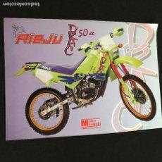 Voitures et Motocyclettes: FOLLETO CATALOGO PUBLICIDAD ORIGINAL RIEJU DRAC 50 CC MOTOR MINARELLI. Lote 192215040