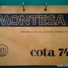 Coches y Motocicletas: MONTESA COTA 74 CATÁLOGO PIEZAS MANUAL INSTRUCCIONES PERMANYER AÑOS '70. Lote 192501250