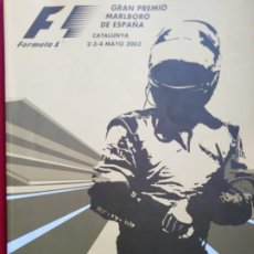 Coches y Motocicletas: PROGRAMA OFICIAL DEL GRAN PREMIO DE FÓRMULA 1 DE ESPAÑA 2003 CATALUNYA. Lote 192563645