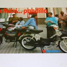 Coches y Motocicletas: FOLLETO PUBLICIDAD SUZUKI MAXI - LA MAXI... PANDILLA - STANDARD I ELECTRIC - 1988. Lote 192906233