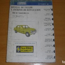 Coches y Motocicletas: MANUAL TALLER GUÍA TASACIONES RENAULT SIETE 1980 REPARACIÓN AUTOMÓVIL COCHE -. Lote 193647105