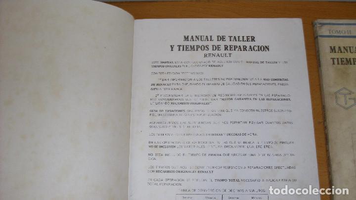 Coches y Motocicletas: MANUAL TALLER GUÍA TASACIONES RENAULT 14 2 TOMOS 1981 REPARACIÓN AUTOMÓVIL COCHE - - Foto 3 - 221672271