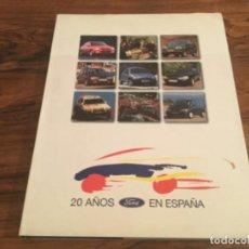 Voitures et Motocyclettes: COCHE. FORD - 20 AÑOS EN ESPAÑA - 1996. FIESTA,SIERRA, ESCORT. CARLOS SAINZ. RALLYE ETC. Lote 193967766