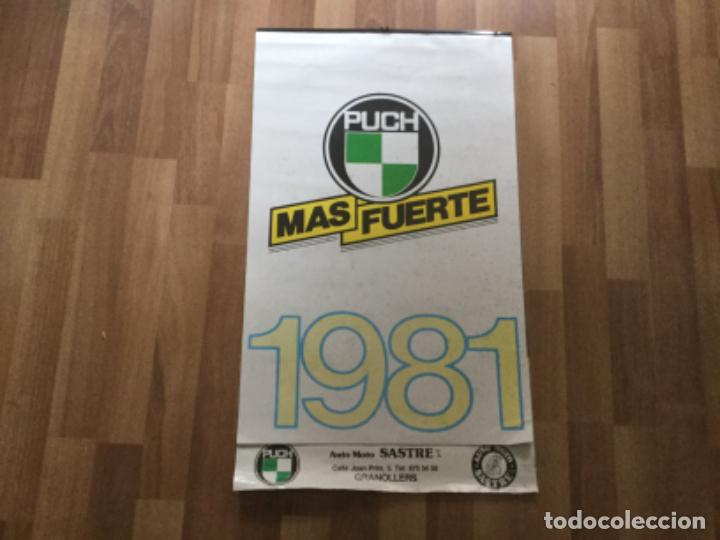 CALENDARIO 1981 PUCH MOTO BICICLETA. SASTRE GRANOLLERS (Coches y Motocicletas Antiguas y Clásicas - Catálogos, Publicidad y Libros de mecánica)