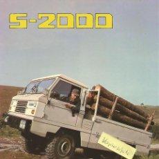 Voitures et Motocyclettes: SANTANA S-2000 FOLLETO 4+2 PÁGINAS, PLASTIFICADO. Lote 194117591