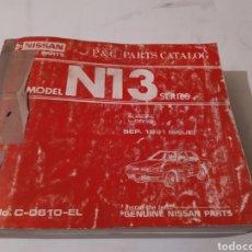 Coches y Motocicletas: NISSAN SUNNY N13. CATALOGO RECAMBIOS.. Lote 194175188