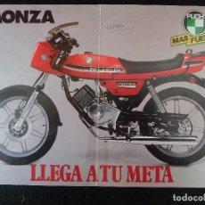 Coches y Motocicletas: PUCH-FOLLETO ORIGINAL CARACTERISTICAS TECNICAS MOTOCICLETA-PUCH·MONZA. Lote 194179602
