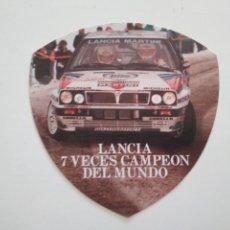 Coches y Motocicletas: PEGAATINA LANCIA 7 VECES CAMPEÓN DEL MUNDO - PUBLICIDAD. Lote 194196460