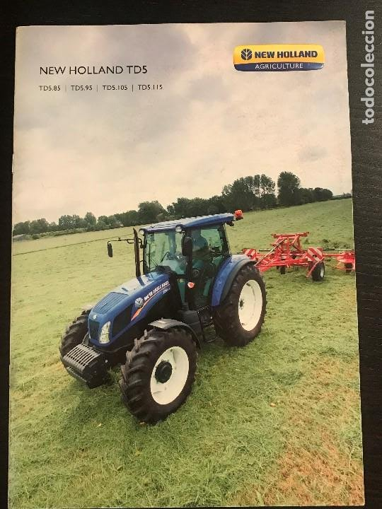 NEW HOLLAND TD5 TRACTOR GAMA TD 585 595 5105 5115 - CATALOGO PUBLICIDAD ESPAÑOL (Coches y Motocicletas Antiguas y Clásicas - Catálogos, Publicidad y Libros de mecánica)
