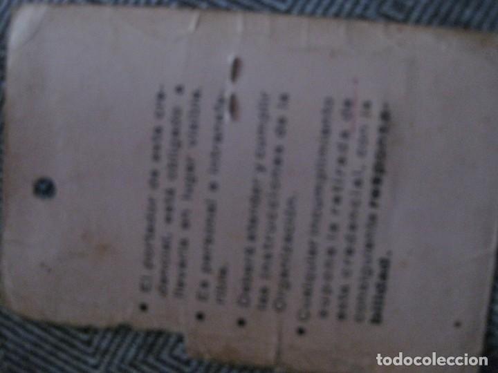 Coches y Motocicletas: vespa club barcelona - credencial mecanico 1980 servicios auxiliares carmet - Foto 2 - 194239980