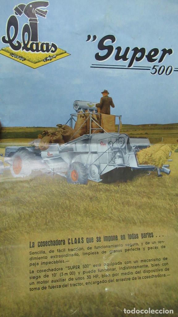 COSECHADORAS CLAAS SUPER 500 ANTIGUO FOLLETO PUBLICITARIO 8 PAGINAS (Coches y Motocicletas Antiguas y Clásicas - Catálogos, Publicidad y Libros de mecánica)