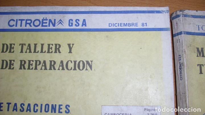 Coches y Motocicletas: MANUAL TALLER GUÍA TASACIONES CITROEN GSA TOMO 1 Y TOMO 2 1981 REPARACIÓN AUTOMÓVIL COCHE - - Foto 2 - 194281100