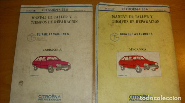 Coches y Motocicletas: MANUAL TALLER GUÍA TASACIONES CITROEN GSA TOMO 1 Y TOMO 2 1981 REPARACIÓN AUTOMÓVIL COCHE - - Foto 6 - 194281100