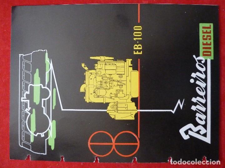 Coches y Motocicletas: BARREIROS-CATALOGO/FOLLETO ORIGINAL MOTORES- BARREIROS EB100 DIESEL - Foto 2 - 194289662