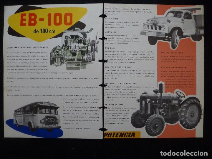 Coches y Motocicletas: BARREIROS-CATALOGO/FOLLETO ORIGINAL MOTORES- BARREIROS EB100 DIESEL - Foto 3 - 194289662