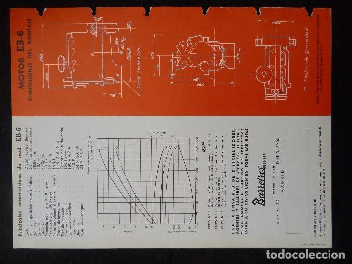 Coches y Motocicletas: BARREIROS-CATALOGO/FOLLETO ORIGINAL MOTORES- BARREIROS EB100 DIESEL - Foto 5 - 194289662