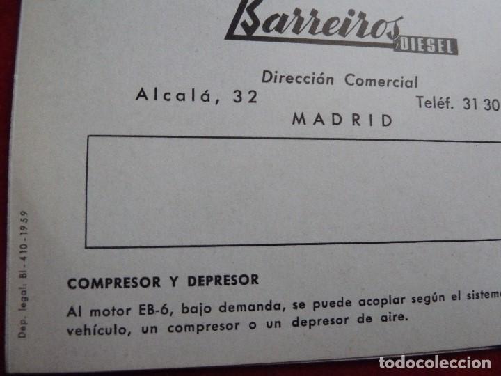 Coches y Motocicletas: BARREIROS-CATALOGO/FOLLETO ORIGINAL MOTORES- BARREIROS EB100 DIESEL - Foto 6 - 194289662