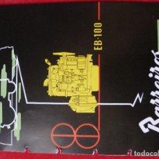 Coches y Motocicletas: BARREIROS-CATALOGO/FOLLETO ORIGINAL MOTORES- BARREIROS EB100 DIESEL. Lote 194289662