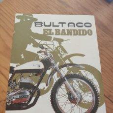 Coches y Motocicletas: BULTACO. EL BANDIDO. DÍPTICO.. Lote 194294725