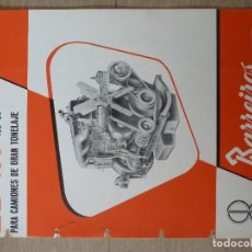 Coches y Motocicletas: BARREIROS-CATALOGO/FOLLETO ORIGINAL CARACTERISTICAS MOTOR-BARREIROS·EB-150. Lote 194301217