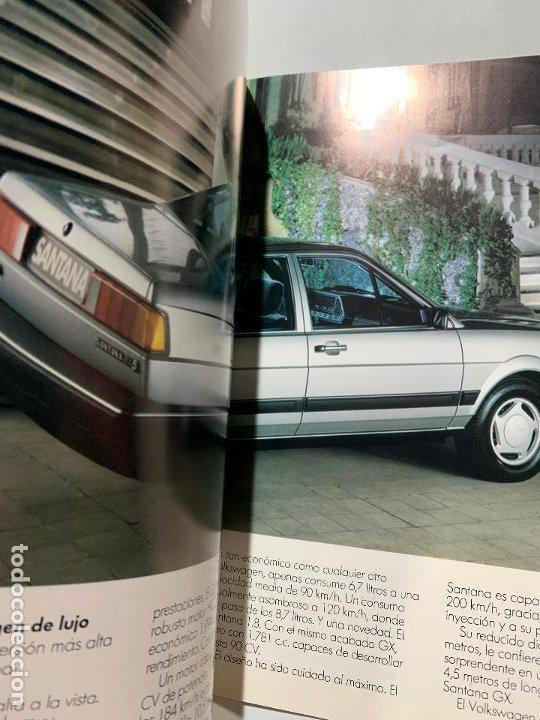 Coches y Motocicletas: catalogo folleto publicidad original volkswagen santana de 1987 - Foto 2 - 194317465