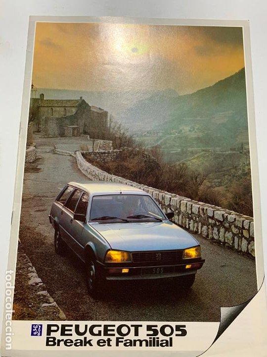 CATALOGO FOLLETO PUBLICIDAD ORIGINAL PEUGEOT 505 BREAK Y FAMILIAR DE 1983 (Coches y Motocicletas Antiguas y Clásicas - Catálogos, Publicidad y Libros de mecánica)