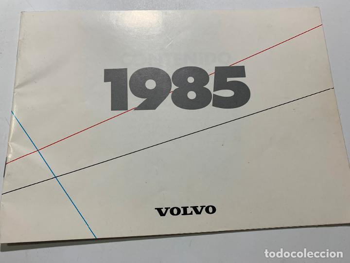 CATALOGO DE 1985 VOLVO 340 360 GLT GLE 240 GL SEDAN RANCHERA TURBO 740 GL 760 (Coches y Motocicletas Antiguas y Clásicas - Catálogos, Publicidad y Libros de mecánica)
