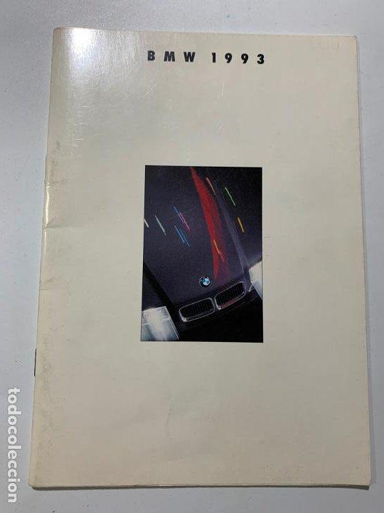 CATALOGO FOLLETO PUBLICIDAD DE 1993 BMW SERIE 3 5 7 750I 8 M3 M5 (Coches y Motocicletas Antiguas y Clásicas - Catálogos, Publicidad y Libros de mecánica)